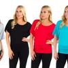 Women's Plus Size Dolman-Sleeve Tunic