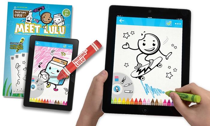 Painting Lulu Paper To Digital Coloring Packs 2 Count Award