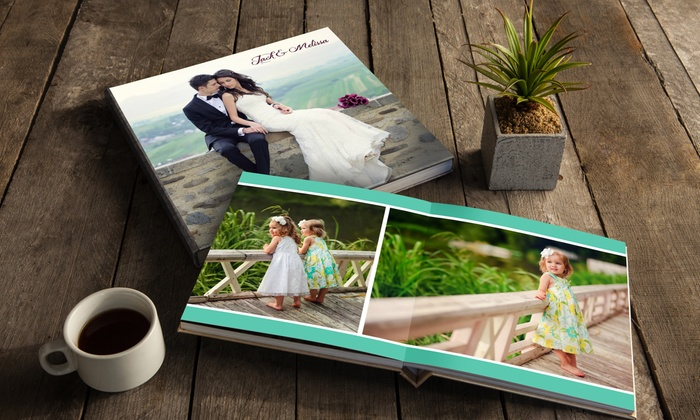 "AdoramaPix: Custom Lay-Flat 10-Page 8""x8"" or 12""x12"" Photo Book from AdoramaPix (Up to 56% Off)"