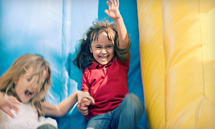 Valley Tent Rental - Grand Blanc: $10 for All-Day Indoor-Bounce-Playground Outing for Two at Valley Tent Rental in Flint ($20 Value)
