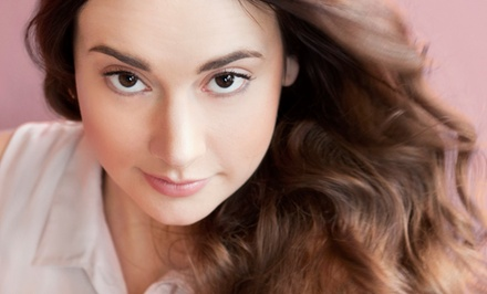 Women's Haircut and Style with Blow-Dry, and Full Highlights at Texture 7 Salon & Spa (53% Off)