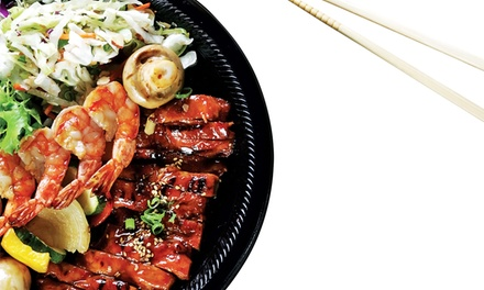 Japanese Food and Drinks for Two or Four or More at San Sai Japanese Grill (48% Off)