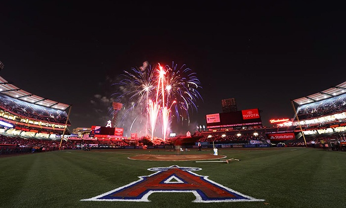 "Los Angeles Angels of Anaheim - Angel Stadium of Anaheim: Los Angeles Angels of Anaheim Game at Angel Stadium on May 24 with ""The Lego Movie"" Screening or June 6 (Up to 70% Off)."