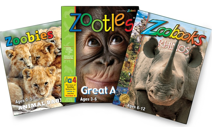 "Wildlife Education: Subscriptions to ""Zoobooks,"" ""Zootles,"" or ""Zoobies"" Magazine"