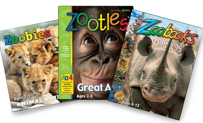 """Subscriptions to """"Zoobooks,"""" """"Zootles,"""" or """"Zoobies"""" Magazine"""