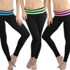 Women's Fold-Over Waist Skinny-Fit Active Pants (5-Pack)