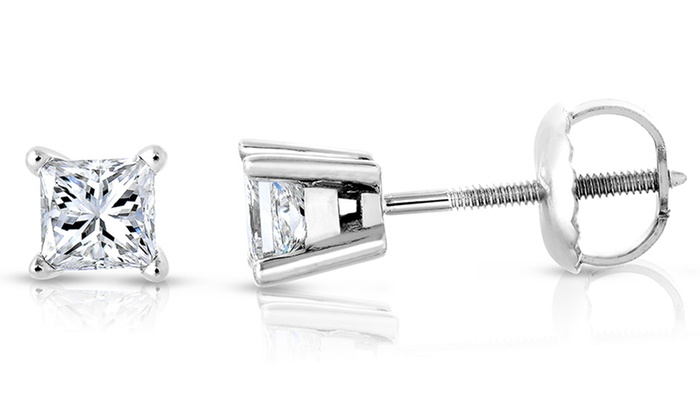 1 4 Cttw Gh Vs1 Vs2 Quality Diamond Stud Earrings In 14k Gold