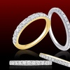 1/4—1/2 CTTW Diamond Wedding Bands in 10K Gold by Brilliant Diamond