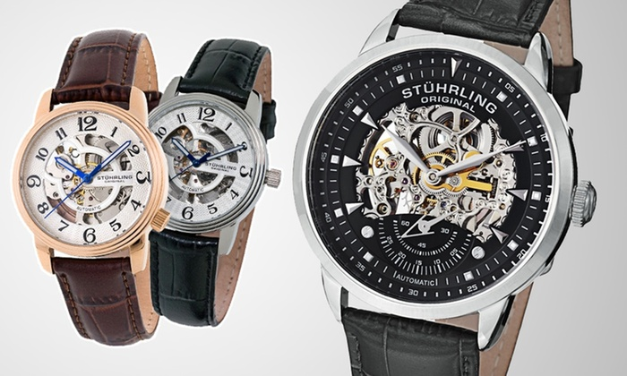 Stührling Original Skeleton Watches for Men and Women: Stührling Original Skeleton Watches for Men and Women (Up to 82% Off). Multiple Styles Available.