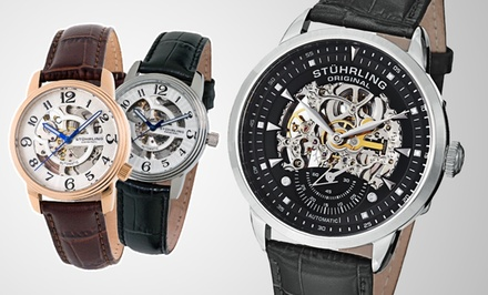 Stührling Original Skeleton Watches for Men and Women (Up to 82% Off). Multiple Styles Available.