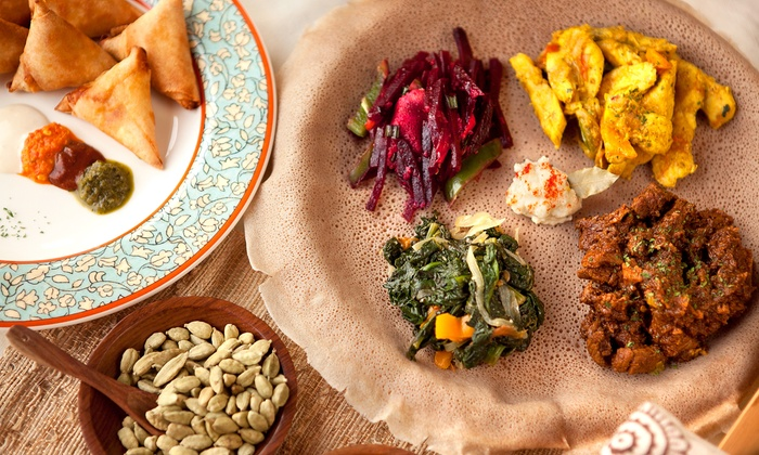 Abyssinian Ethiopian Restaurant - West End: Ethiopian Cuisine at Abyssinian Ethiopian Restaurant (40% Off). Two Options Available.