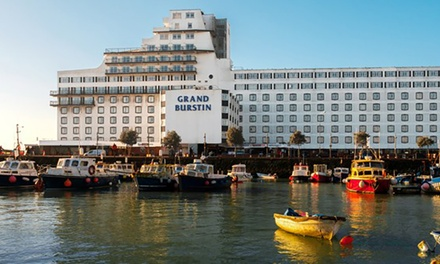 Kent: 12 Nights for Two with Breakfast and Optional Carvery Dinner and Bottle of Wine at Grand Burstin Hotel Folkstone