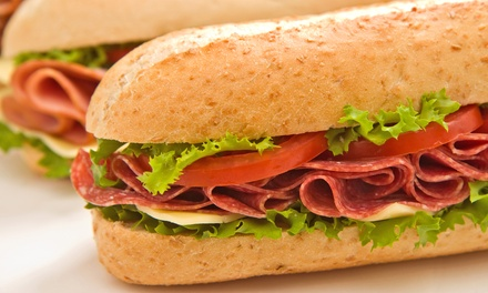 $18 for a 5-Combo Punchcard, Each Punch Good for Half Cold Sub and Soda at Jimmy B's Deli ($27.95 Value)