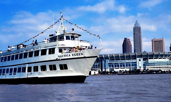 Nautica Queen - Downtown: Brunch, Lunch, or Sunset Dinner Cruises for One Person on the Nautica Queen, April 4–April 19 (Up to 36% Off)