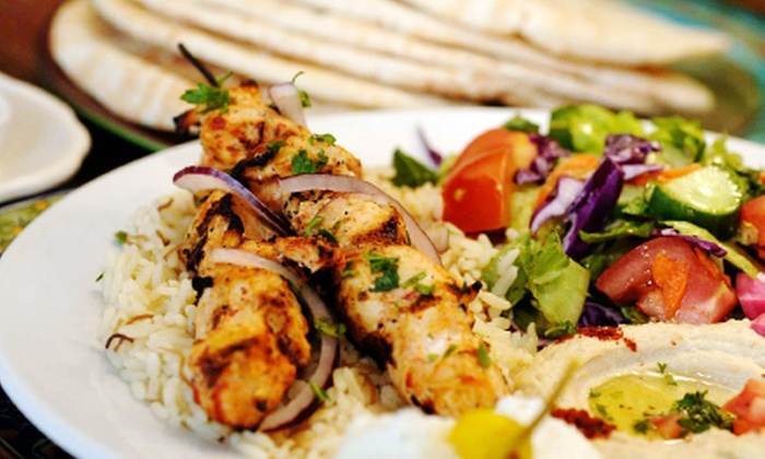 Z Garden - Multiple Locations: $19.80 for a Mediterranean Meal for Two with Appetizer and Entrees at Z Garden (Up to $37.85 Value)