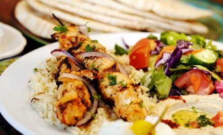 $19.80 for a Mediterranean Meal for Two with Appetizer and Entrees at Z Garden (Up to $37.85 Value)