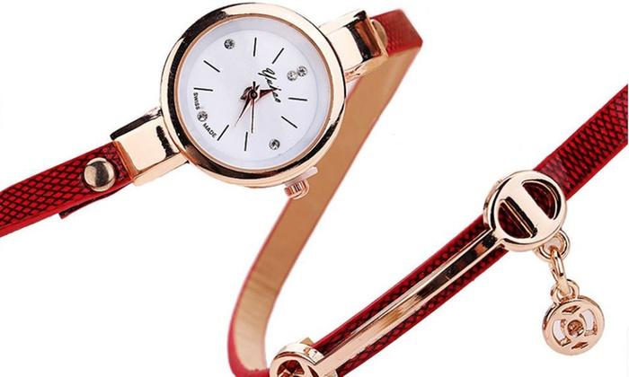 Dodatkowe Designerski zegarek damski: 8 kolorów | Groupon FF39