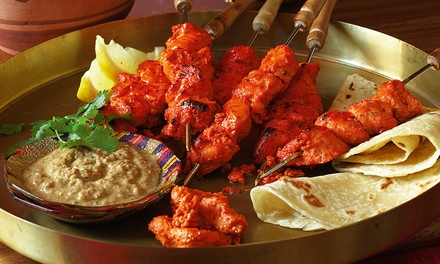 Two-Course Dinner with Wine for Two ($35) or Six ($99) at The Melting Chili Indian Restaurant (Up to $215.40 Value)