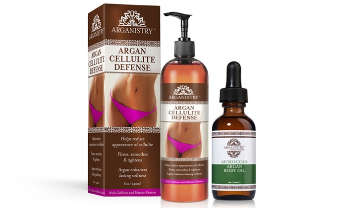 Arganistry Cellulite Defense Lotion And Argan Body Oil
