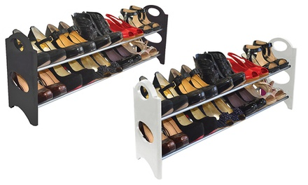 10-Pair Shoe Rack