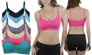 Women's Seamless Padded Bralettes (6-Pack) at Women's Seamless Padded Bralettes (6-Pack), plus 9.0% Cash Back from Ebates.