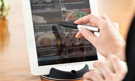 1 o 2 soportes de cocina para tablet con bolígrafo