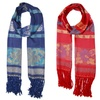 Fringed Floral Cutout Scarf