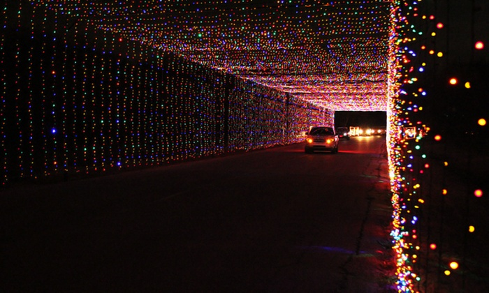Prairie Lights - Lynn Creek Park: Drive-Thru Holiday Light Park and Show Tickets at Prairie Lights (Up to 44% Off). 4 Options Available.