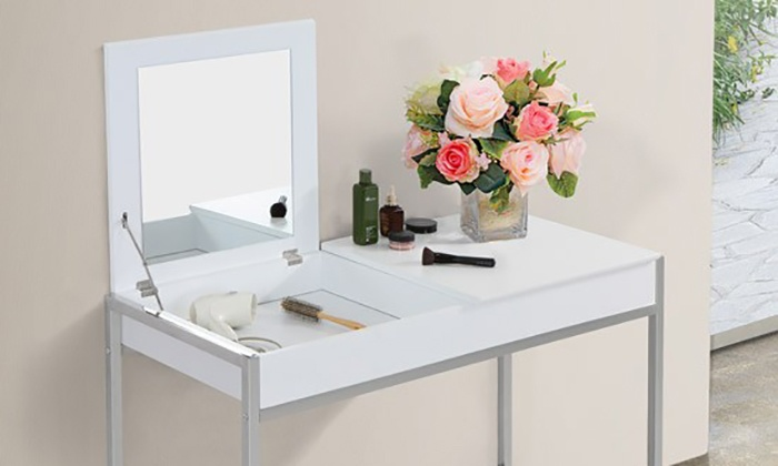 Dressing Table With Mirror Groupon Goods