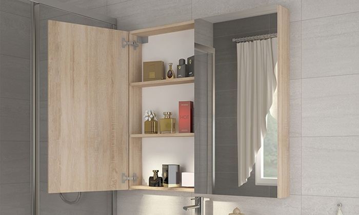 Badkamer spiegelkast met led groupon goods for Spiegelkast voor badkamer