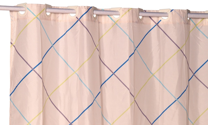 Ez On Fabric Shower Curtain Groupon Goods