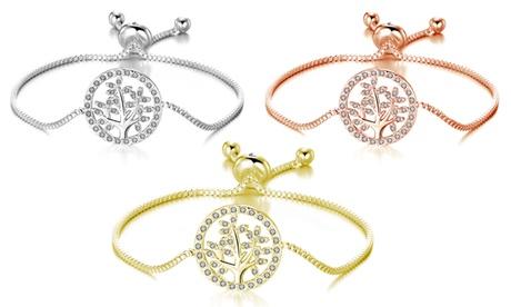 1, 2 o 3 pulseras del árbol de la vida Philip Jones, adornadas con cristales de Swarovski®