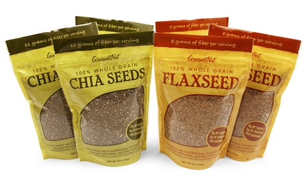 6-Pack of Gourmet Nut Chia and Flax Seeds