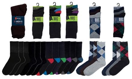 4, 8 of 12 packs van 3 paar bijpassende sokken voor heren.