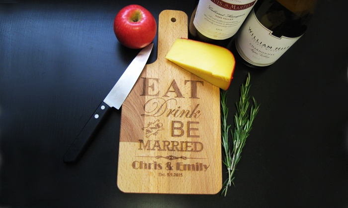 JC Jewelry Design: One, Two, or Three Personalized Cheeseboards from JC Jewelry Design (Up to 51% Off)