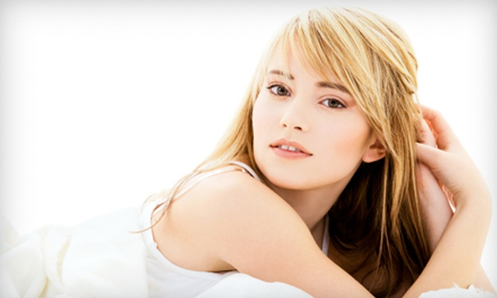 Aesthetic Beauty Salon - Aesthetic Beauty Salon: Haircut, Style, and Blow-Dry with Optional Highlights or Highlights and Color at Aesthetic Beauty Salon (Up to 70% Off)