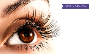 Mink Lash Bar: Full Set of Synthetic Mink Eyelash Extensions with 70 or 90 Lashes Per Eye at Mink Lash Bar (Up to 56% Off)