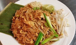 Singha Thai: Thai Food for Takeout or Thai Dine-In Dinner on One or Three Visits at Singha Thai (Up to 48% Off)