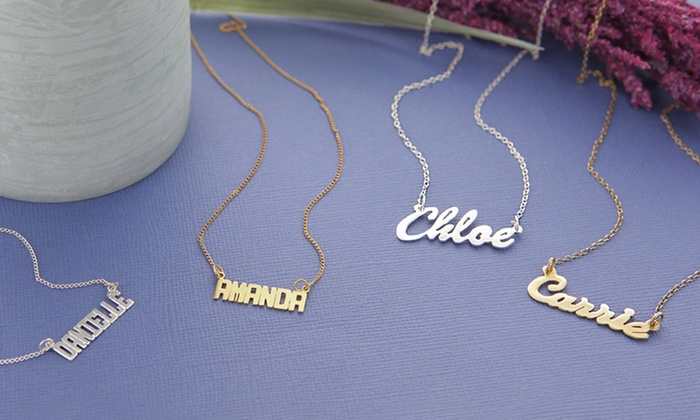 Personalized Name Necklaces: Personalized Name Necklaces from Monogram Online (Up to 67% Off). Multiple Styles Available. Free Shipping.