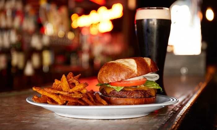 Poppy's Time Out Sports Bar - Central Business District: Pub Cuisine and Drinks for Lunch or Dinner at Poppy's Time Out Sports Bar & Grill (40% Off)