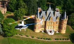 Helico sun: Vol en hélicoptère du Pays aux Pierres Dorées, Beaujolais ou Lyon dès 109 € avec Helico Sun