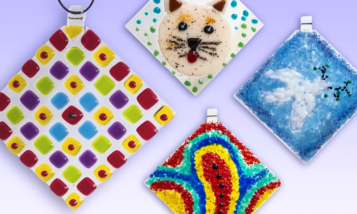 Helios Kiln Glass Studio - Northwest Austin: $12 for a Beginner's Fused Glass Suncatcher Class at Helios Kiln Glass Studio ($25 Value)