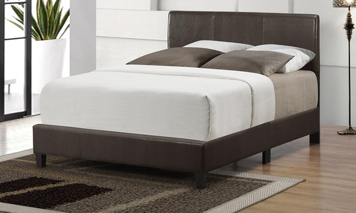 Luca upholstered beds groupon goods for Beds groupon