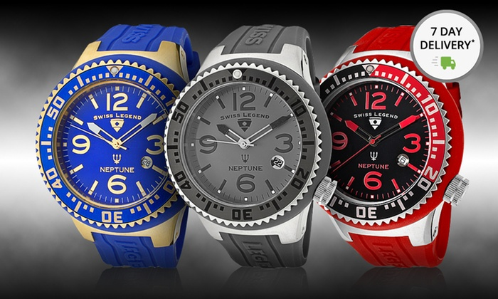 Swiss Legend Men's Neptune Watches: Swiss Legend Men's Neptune Watch. Multiple Colors Available. Free Shipping and Returns.