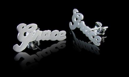 $29.99 for Custom Name Stud Earrings from NameJewelrySpot ($139.99 Value)