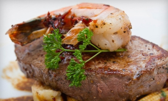 Beebo Seafood & Raw Bar - Bay Ridge & Fort Hamilton: Surf 'n' Turf Meal for Two or Four at Beebo Seafood & Raw Bar (Up to 53% Off). Three Options Available.