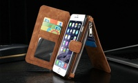 Leather Credit Card and Wallet Case for iPhone 6/6s/6s Plus  in Choice of Colours for AED 69 (59% off)