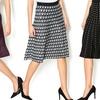 Knee-Length Printed Knit Skirts