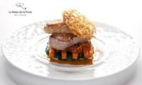 Menu étoilé en 4 services par le chef Bruno Sohn pour 2 convives à 99 € au restaurant Le Relais de la Poste