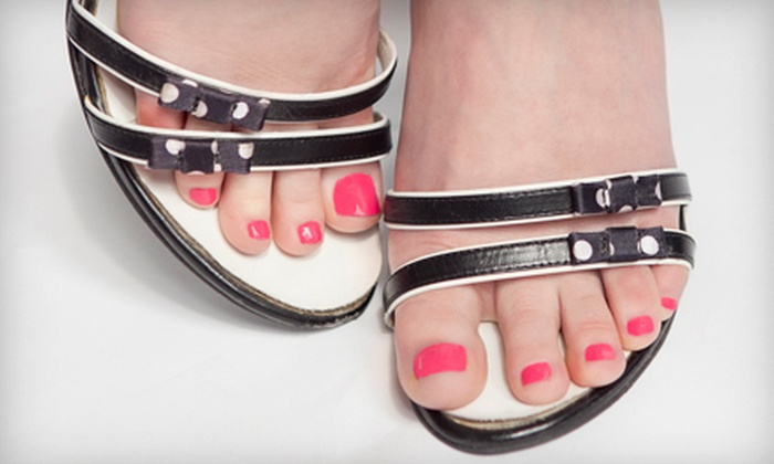 Artistic Nails by London - Clovis: Gel Manicure, RockStar Toes Treatment, or Both at Effess (51% Off)